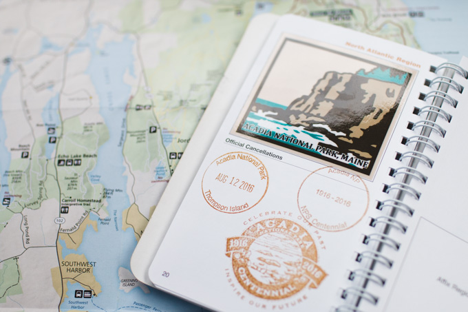 Acadia National Park, passport stamp, np passport