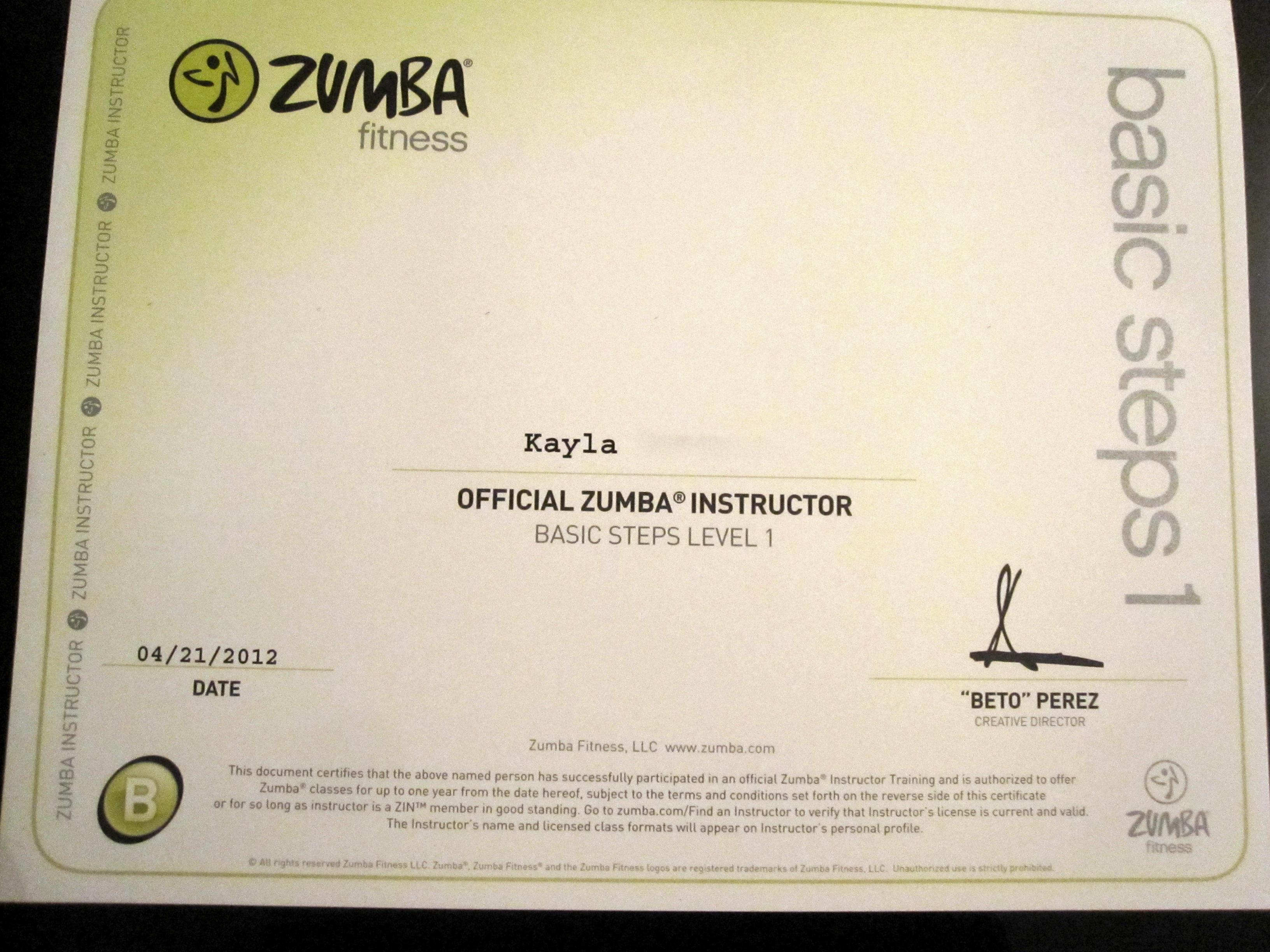 At Last Zumba Instructor Training Kayla In The City