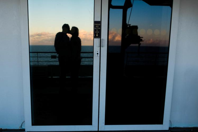 kissing on the first cruise