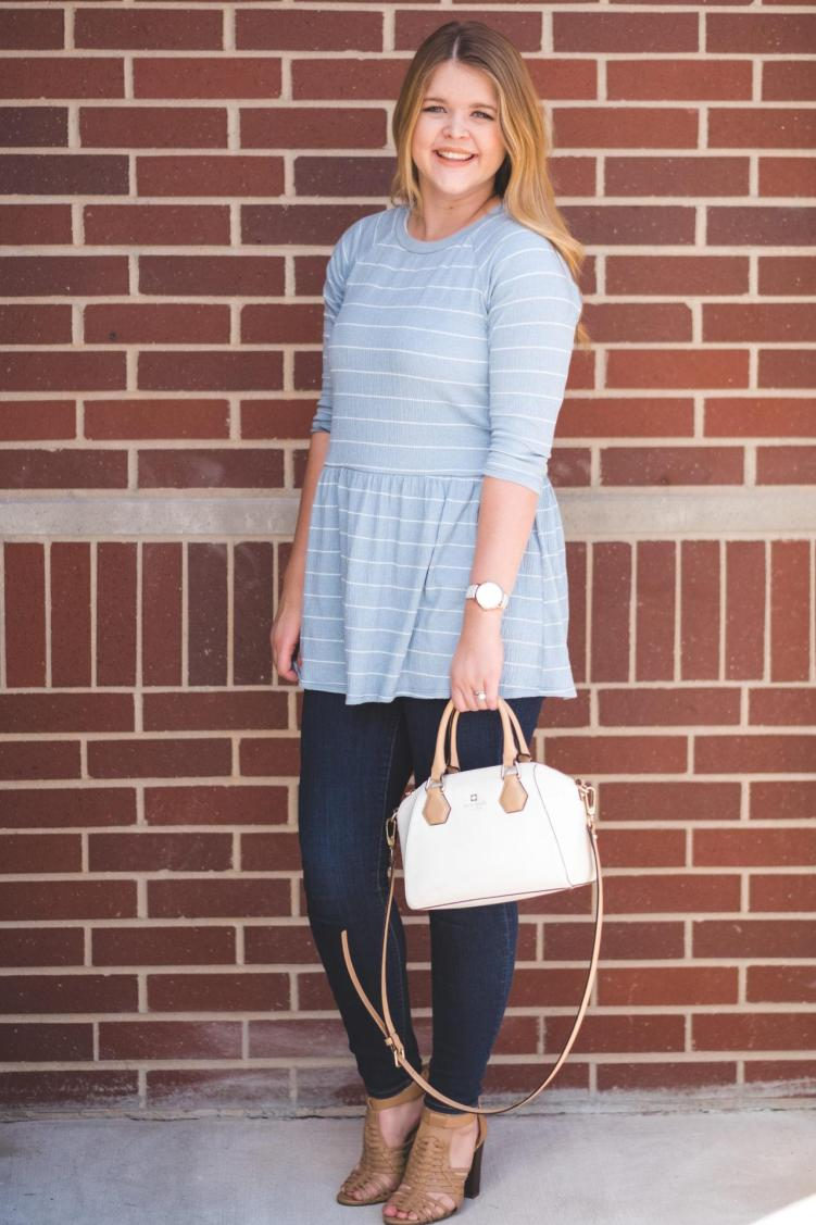 styling a striped tunic