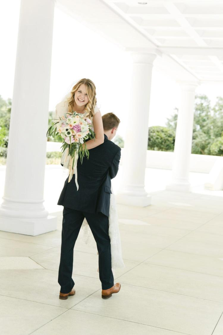 wedding pictures after our marriage at the Orlando LDS temple