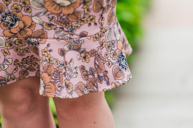 Agnes and Dora floral skirt with a ruffle