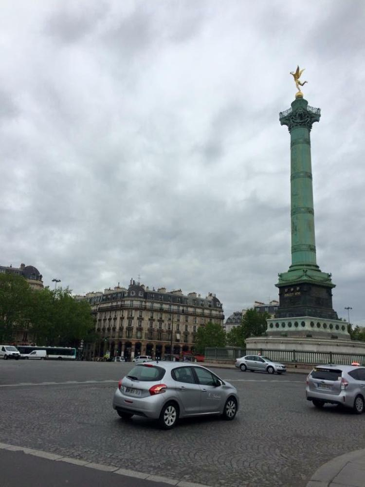 Picture of Bastille from my Paris Travel Guide