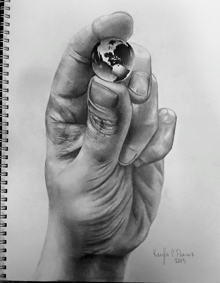 """World In Hands Drawing : world, hands, drawing, Sketch, """"He's, Whole, World, Hands"""", Sketchbook"""
