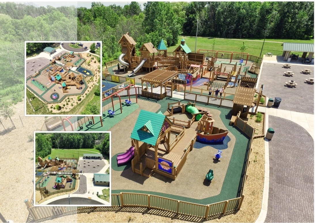 Image result for aerial shot, kayla's playground, franklin, wi