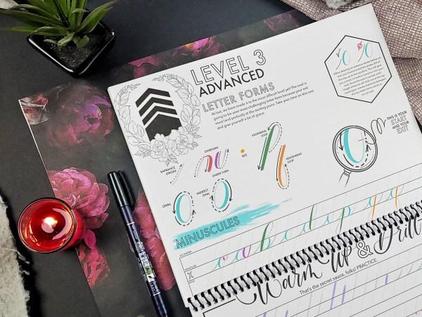 Level Up Brush Calligraphy Workbook Page Level 3 Advanced