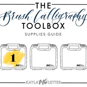 Brush Calligraphy Essentials Toolbox