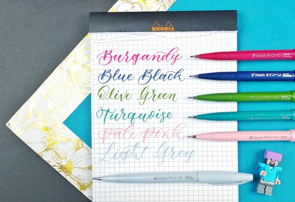 Pentel Fude Touch Sign Pen New Colors