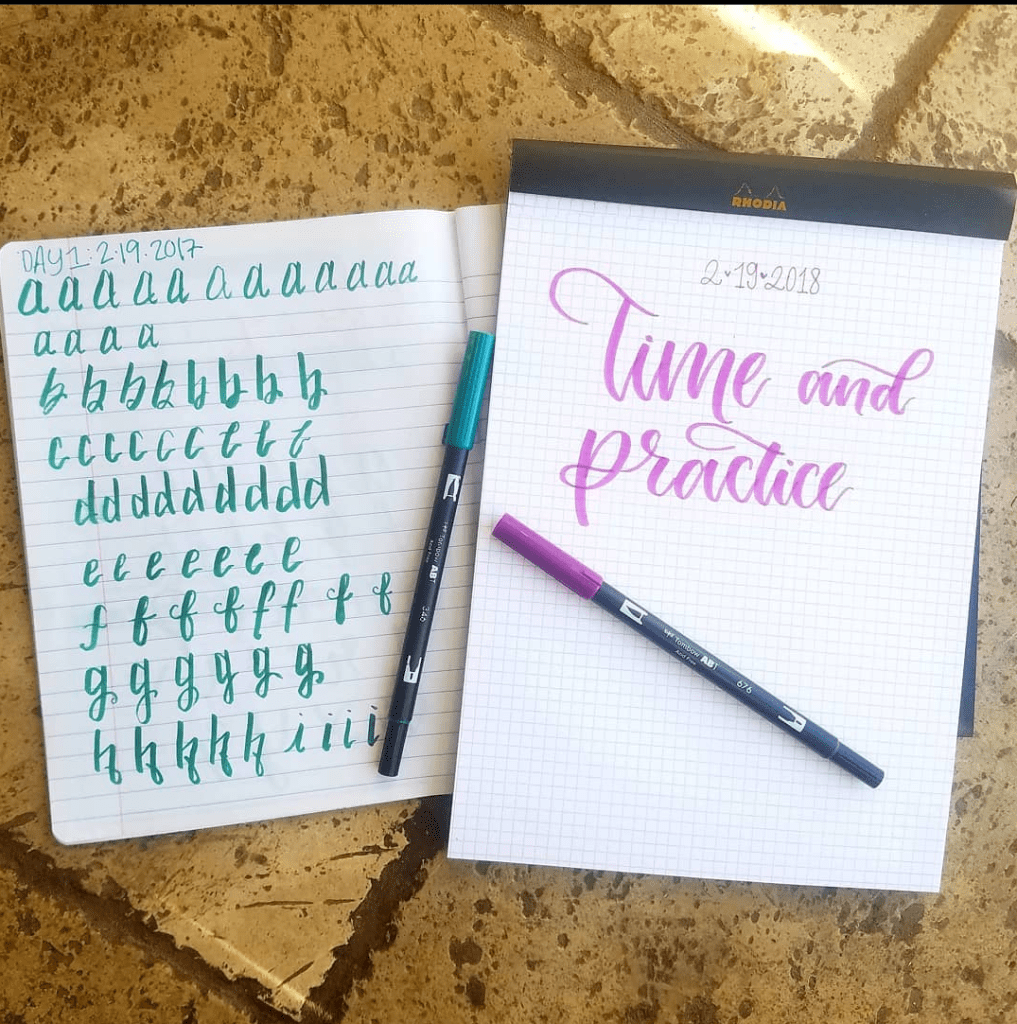 Calligraphy Practice From Day 1