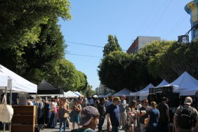 The Urban Air Market, a monthly event that is held in various locations throughout the city, came to Hayes Valley this weekend, where hundreds of vendors and shoppers came to enjoy the warm weather and excitement, on Sunday May 1, 2016.