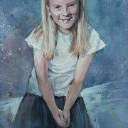 Child's Portrait in Watercolour & Gauache
