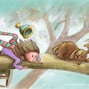 Children's Illustration for Illustration Friday's theme: Rescue: Puppy Rescue - Digital
