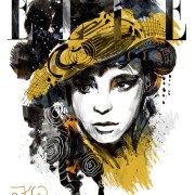 Fashion illustration - Elle Magazine cover. Editorial illustrations by Kayleen West