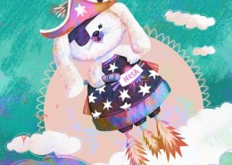 Childrens Illustration: Space Pirate