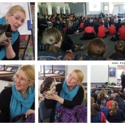 Book Week author illustrator visit at Rye primary School. Puppets, drawing, how a picture book is created and more.