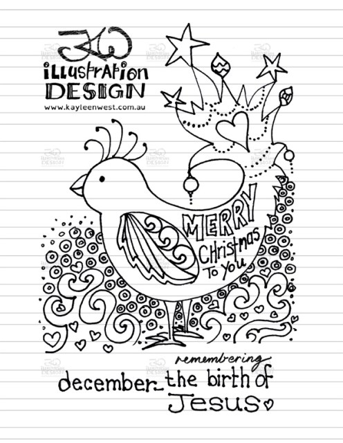 INKtober 2014. An inked sketch each day for the month of October. Today it is a a Christmas design: December we remember the birth of Jesus for a Christmas card design illustration. #inktober