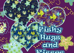 SURFACE PATTERN DESIGN: Children's decor. Fish aquatic design for bolt fabric, lamps, clothing, wallpaper or stationary. Available for Licensing