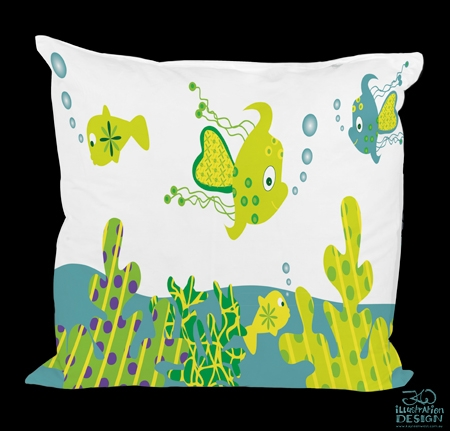 Surface pattern design: Happy Fish