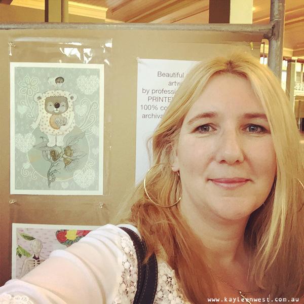My print, Koala Hugs displayed with Illustrators Australia at Supergraph