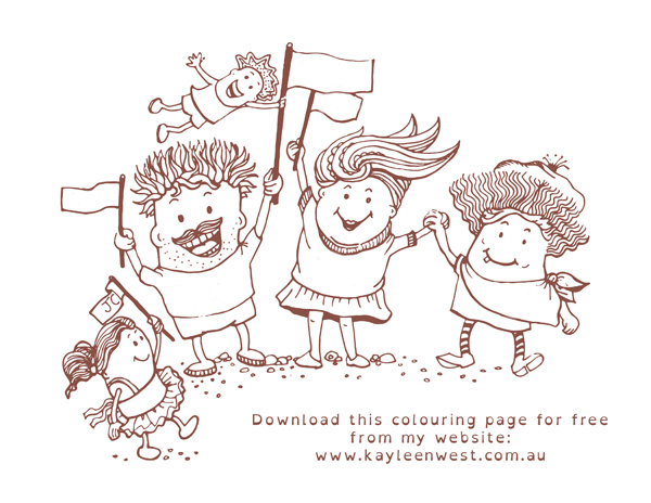 Free Colouring Pages: Kids colouring page - Unity Colouring books sepia