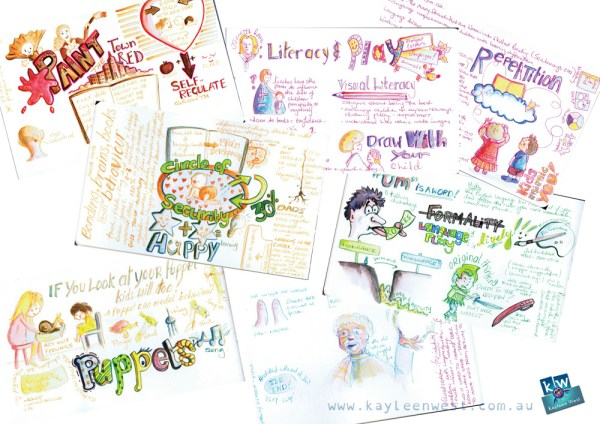 Children's education. Literacy Expo notes illustrated.