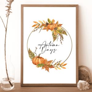 Autumn Wreath Print