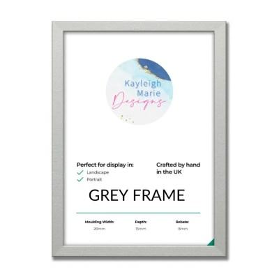 Large Grey Frame
