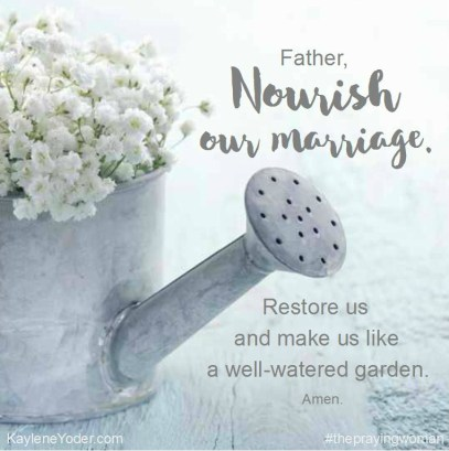 Nourish our marriage