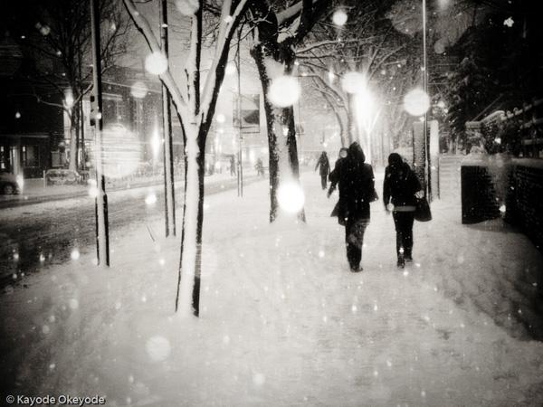 London When it Snows:  Wood Lane