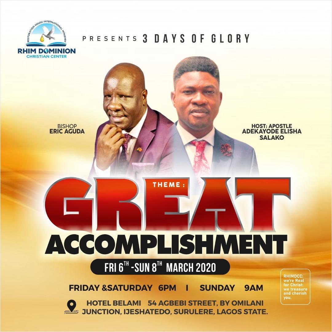 Great Accomplishment – John Aguda