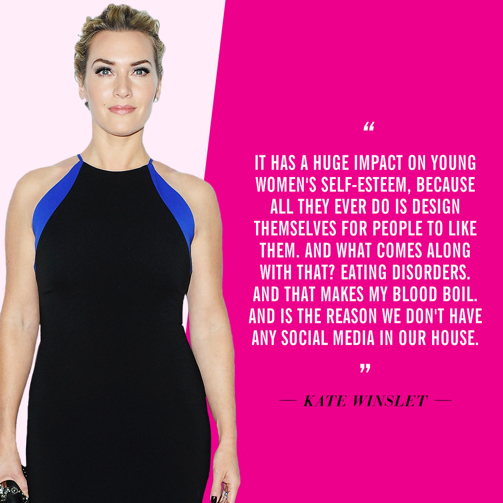 Celebrities Who Dislike Social Media | Kate Winslet