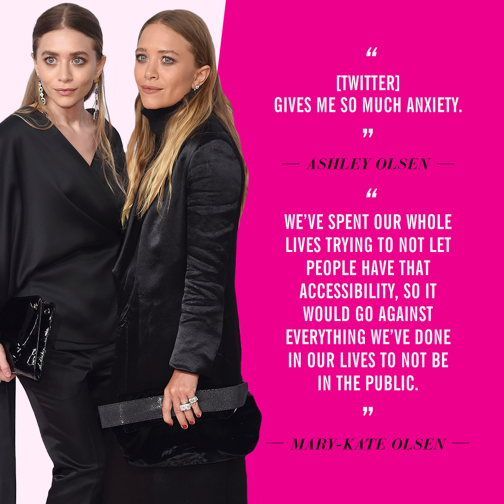 Celebrities Who Dislike Social Media | Ashley Olsen & Mary-Kate Olsen