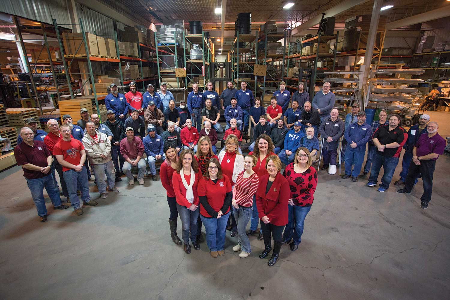 All of Kay Park's staff in our indoor manufacturing facility