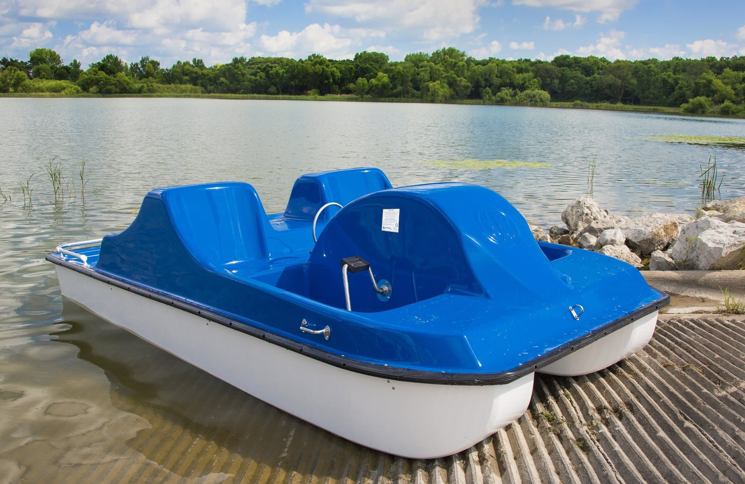 4-Person Pedal Boats | Fiberglass | Commercial Pedal Boat Cruisers