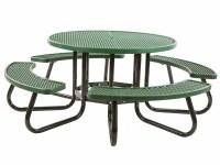 48 Round Portable Picnic Table | Vinyl Plastisol (PVC ...