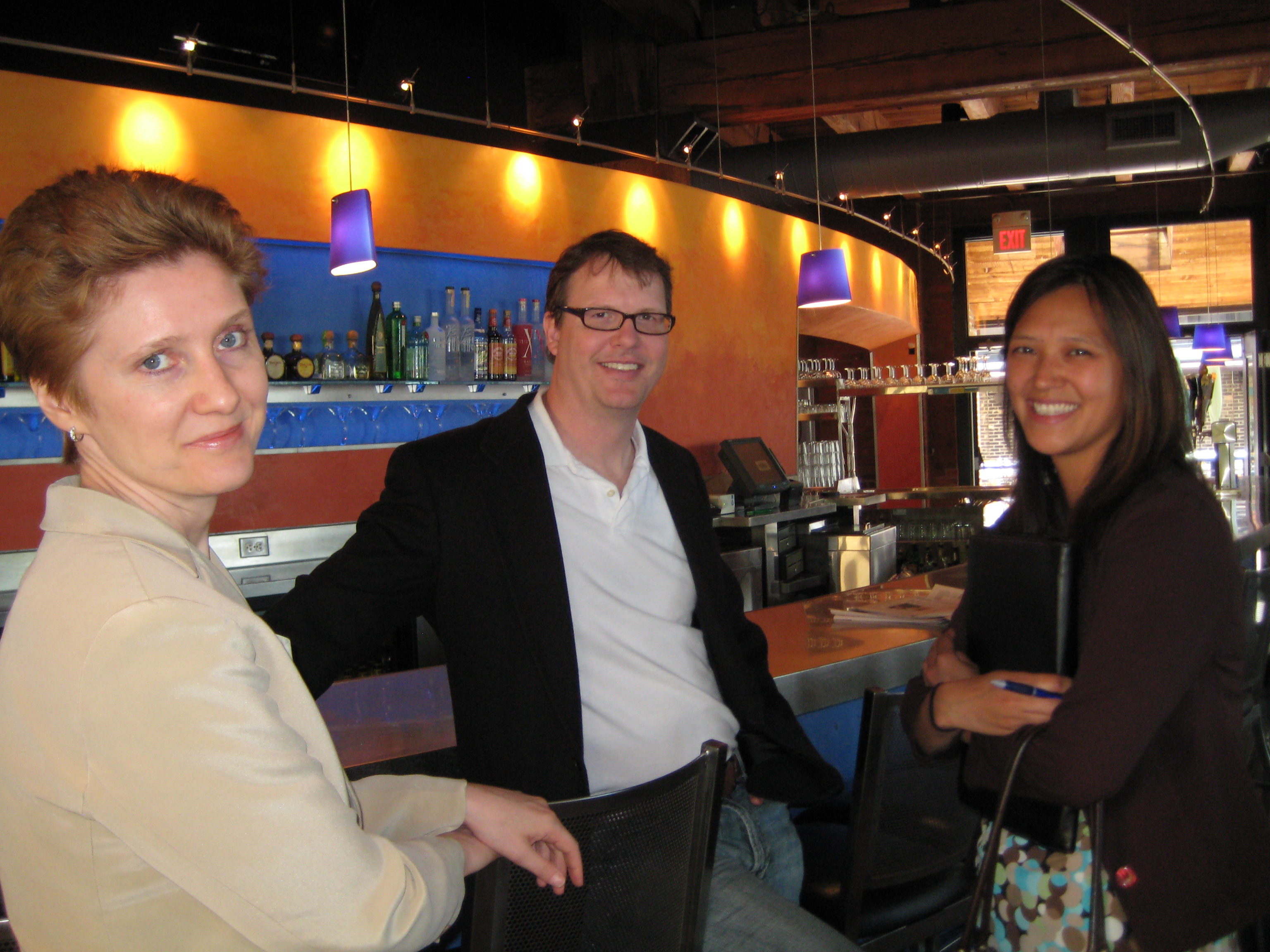 The MNAMA contingent:   Vanessa Bright, Jason Sem and Natasha Tong