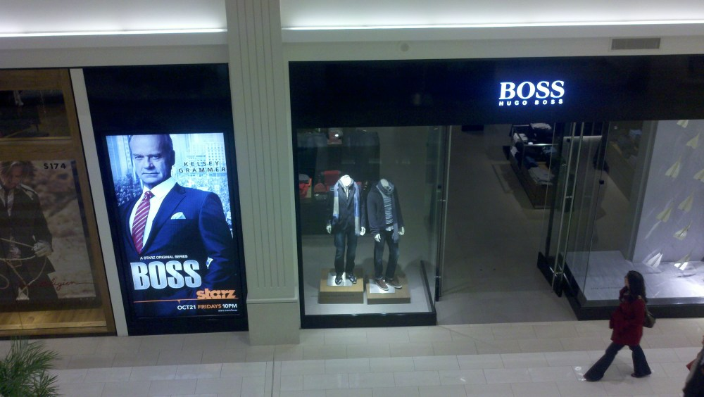 Boss vs. Hugo Boss at MOA:  Visual Pun or Great Ad Placement????