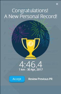 Fastest 1km ever so far