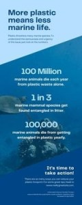 More plastic means less marine life