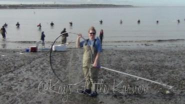 Kay has a dip net!