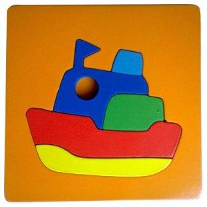 perahu cat - Puzzle Cat Bingkai - Perahu