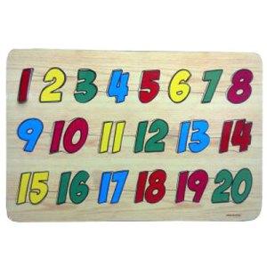 angka 1 20 - Puzzle Angka 1-20