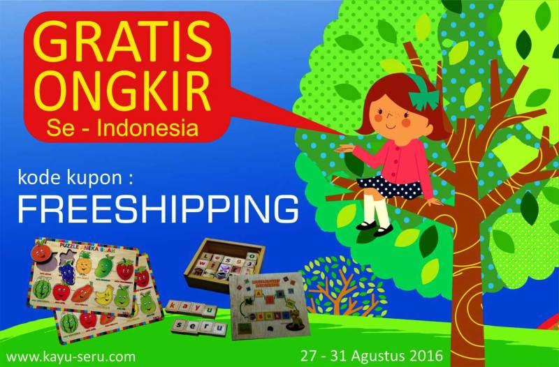 freeshipping - Gratis Ongkos Kirim Beli Mainan Edukatif