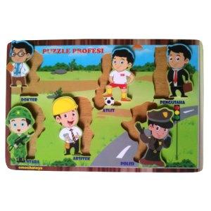 puzzle profesi - Mainan Kayu Edukatif Untuk TK dan PAUD di Palu