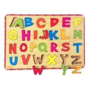 puzzle abc bergaris - Puzzle ABC Huruf Besar Bergaris