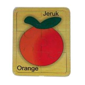 puzzle jeruk - Cara Asik Mengajar Anak Mengenal Warna