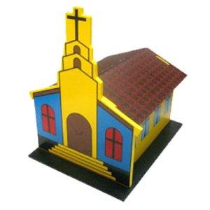 maket gereja - Miniatur Gereja 3D