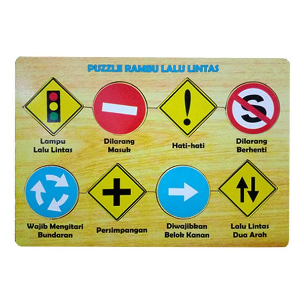 puzzle rambu rambu - Puzzle Rambu Lalu Lintas