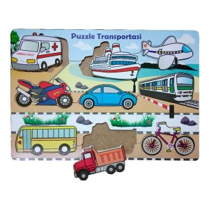 Puzzle Alat Transportasi - Membuat Balok Susun Kubus Warna Pesanan Custom