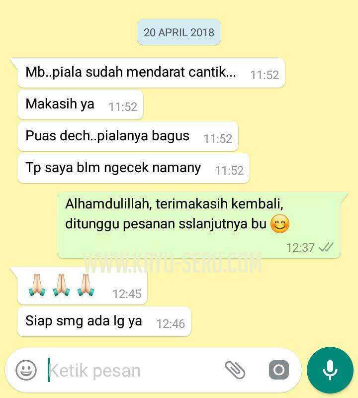 testimoni plakat - Membuat Plakat Wisuda Kayu TK Among Putro Yogyakarta